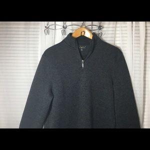 Men's Club Room Gray Fleece 1/4 Zip size Medium